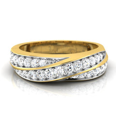 diamond studded gold jewellery - Romario Men's Ring - Pristine Fire - 2