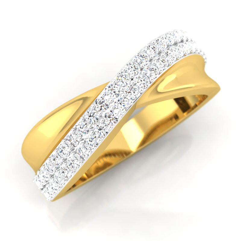 diamond studded gold jewellery - Zubair Men's Ring - Pristine Fire - 1