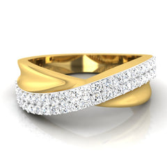diamond studded gold jewellery - Zubair Men's Ring - Pristine Fire - 2