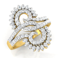diamond studded gold jewellery - Lynlee Fashion Ring - Pristine Fire - 1