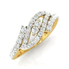 diamond studded gold jewellery - Hinda Fashion Ring - Pristine Fire - 1