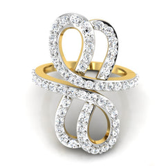 diamond studded gold jewellery - Roshonda Fashion Ring - Pristine Fire - 2