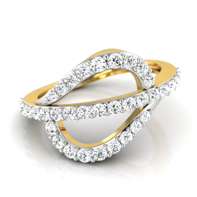 diamond studded gold jewellery - Mei-Xing Casual Ring - Pristine Fire - 1