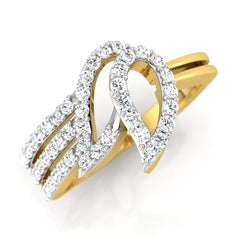 diamond studded gold jewellery - Jamika Fashion Ring - Pristine Fire - 1