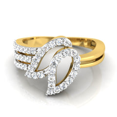 diamond studded gold jewellery - Jamika Fashion Ring - Pristine Fire - 2