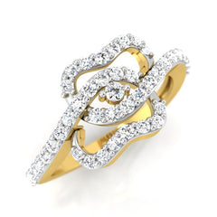 diamond studded gold jewellery - Gabriell Fashion Ring - Pristine Fire - 1