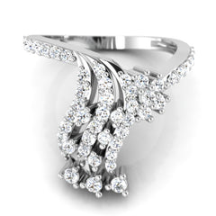 diamond studded gold jewellery - Merissa Fashion Ring - Pristine Fire - 2