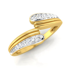 diamond studded gold jewellery - Senalda Band Ring - Pristine Fire - 1