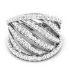 diamond studded gold jewellery - Ashlei Band Ring - Pristine Fire - 2