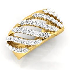 diamond studded gold jewellery - Soledada Band Ring - Pristine Fire - 1