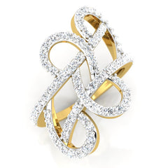 diamond studded gold jewellery - Tarika Fashion Ring - Pristine Fire - 1