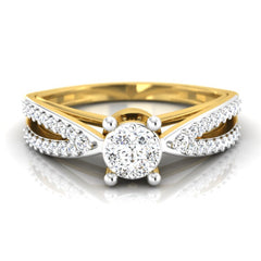 diamond studded gold jewellery - Abertha Engagement Ring - Pristine Fire - 2