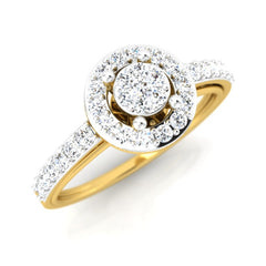 diamond studded gold jewellery - Abigail Engagement Ring - Pristine Fire - 1