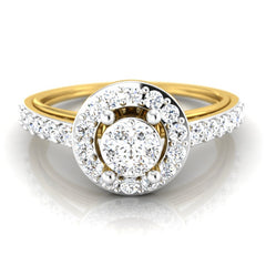 diamond studded gold jewellery - Abigail Engagement Ring - Pristine Fire - 2