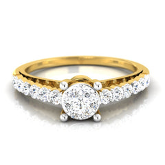 diamond studded gold jewellery - Adeline Engagement Ring - Pristine Fire - 2
