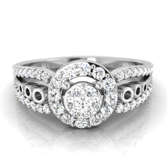 diamond studded gold jewellery - Ashlynn Engagement Ring - Pristine Fire - 2
