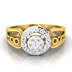 diamond studded gold jewellery - Belicia Engagement Ring - Pristine Fire - 2
