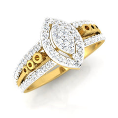 diamond studded gold jewellery - Belinda Engagement Ring - Pristine Fire - 1