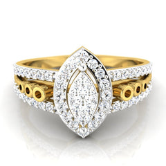 diamond studded gold jewellery - Belinda Engagement Ring - Pristine Fire - 2