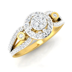diamond studded gold jewellery - Berkley Engagement Ring - Pristine Fire - 1