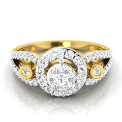 diamond studded gold jewellery - Berkley Engagement Ring - Pristine Fire - 2