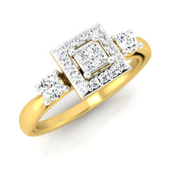 diamond studded gold jewellery - Berlynn Engagement Ring - Pristine Fire - 1
