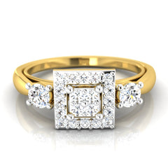diamond studded gold jewellery - Berlynn Engagement Ring - Pristine Fire - 2