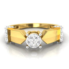 diamond studded gold jewellery - Bolivia Engagement Ring - Pristine Fire - 2