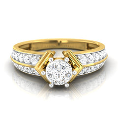 diamond studded gold jewellery - Breyona Engagement Ring - Pristine Fire - 2