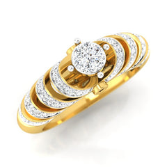 diamond studded gold jewellery - Chalina Engagement Ring - Pristine Fire - 1
