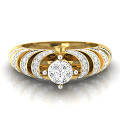 diamond studded gold jewellery - Chalina Engagement Ring - Pristine Fire - 2