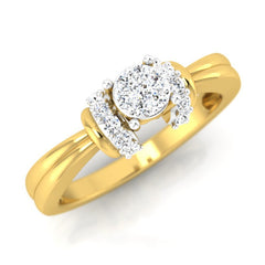 diamond studded gold jewellery - Chantal Engagement Ring - Pristine Fire - 1