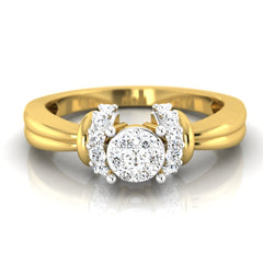 diamond studded gold jewellery - Chantal Engagement Ring - Pristine Fire - 2