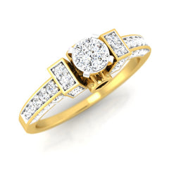 diamond studded gold jewellery - Chasidy Engagement Ring - Pristine Fire - 1