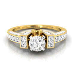 diamond studded gold jewellery - Chasidy Engagement Ring - Pristine Fire - 2