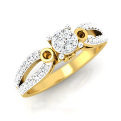 diamond studded gold jewellery - Cherish Engagement Ring - Pristine Fire - 1
