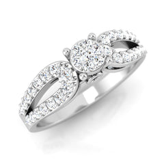 diamond studded gold jewellery - Chrissy Engagement Ring - Pristine Fire - 1
