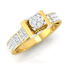 diamond studded gold jewellery - Cinthya Engagement Ring - Pristine Fire - 1