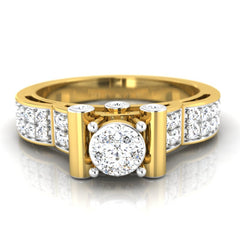 diamond studded gold jewellery - Cinthya Engagement Ring - Pristine Fire - 2