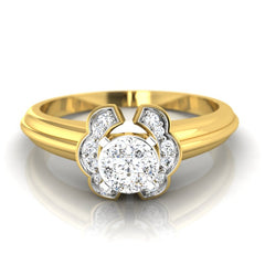 diamond studded gold jewellery - Claudel Engagement Ring - Pristine Fire - 2