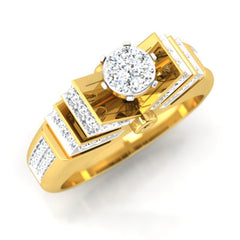 diamond studded gold jewellery - Corinna Engagement Ring - Pristine Fire - 1