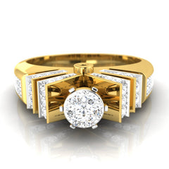 diamond studded gold jewellery - Corinna Engagement Ring - Pristine Fire - 2