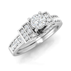 diamond & gold Cortney Engagement Ring - Pristine Fire - 1