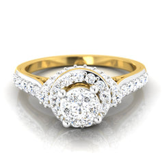diamond studded gold jewellery - Damiana Engagement Ring - Pristine Fire - 2
