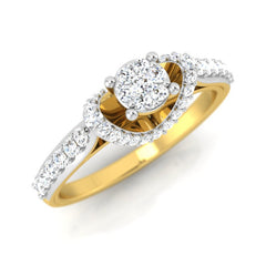 diamond studded gold jewellery - Danella Engagement Ring - Pristine Fire - 1