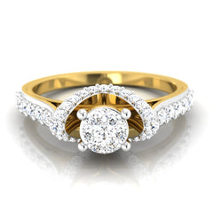 diamond studded gold jewellery - Danella Engagement Ring - Pristine Fire - 2