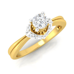 diamond studded gold jewellery - Darlene Engagement Ring - Pristine Fire - 1