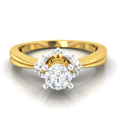 diamond studded gold jewellery - Darlene Engagement Ring - Pristine Fire - 2