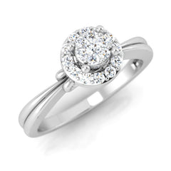 diamond studded gold jewellery - Denisse Engagement Ring - Pristine Fire - 1