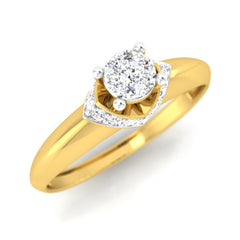 diamond studded gold jewellery - Dezirae Engagement Ring - Pristine Fire - 1
